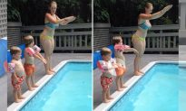Mom Teaches Kids How to Dive, but Her Second Child Has Other Hilarious Plans