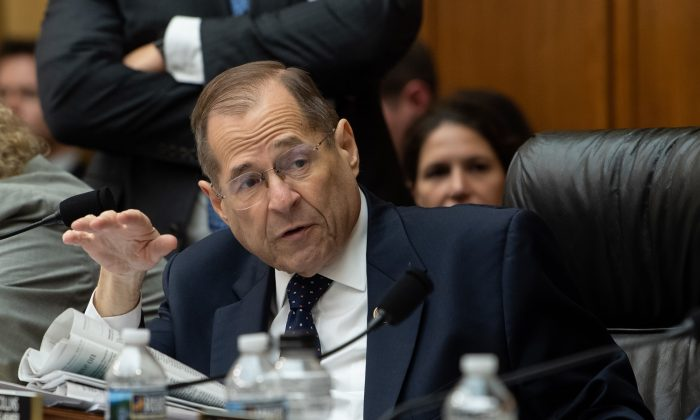 Chairman of the House Judiciary Committee, Jerry Nadler, speaks on Capitol Hill in Washington on May 8, 2019. (Nicholas Kamm/AFP/Getty Images)