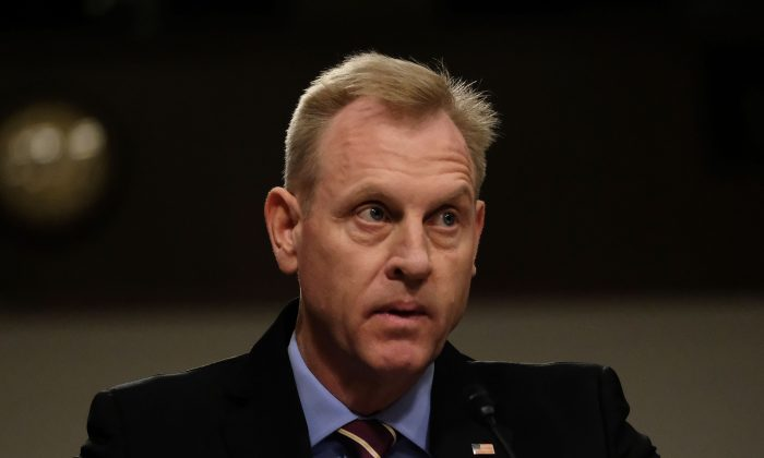 Patrick M. Shanahan, Acting U.S. Secretary of Defense, listens during a Senate Armed Services Committee hearing in Washington on April 11, 2019. Alex Wroblewski/Getty Images