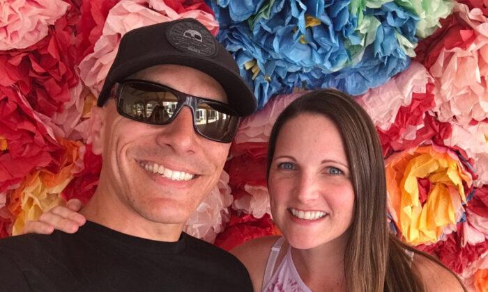 Calvin Smith (L) with his wife Kristina. (Courtesy of Calvin Smith)
