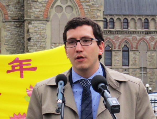 NDP MP Pierre-Luc Dusseault. (Evan Ning/Epoch Times)