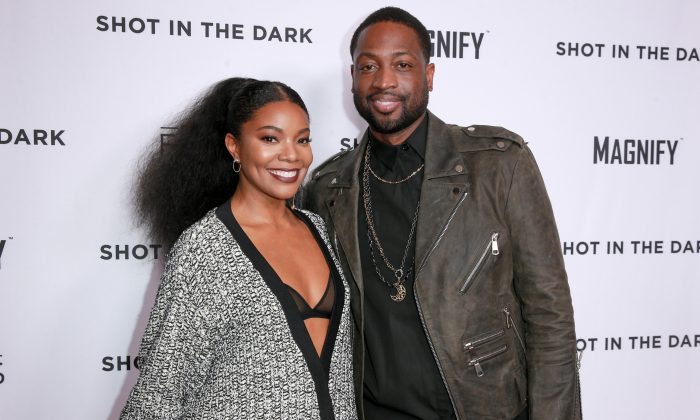 """Gabrielle Union (L) and Dwyane Wade attend Magnify and Fox Sports Films' """"Shot In The Dark"""" premiere documentary screening and panel discussion at Pacific Design Center in West Hollywood, Calif. on February 15, 2018. (Rich Fury/Getty Images)"""