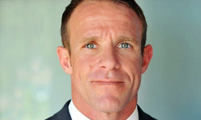 Navy SEAL Edward Gallagher, who has been charged with murder in the 2017 death of an Iraqi war prisoner. (Andrea Gallagher via AP, File)