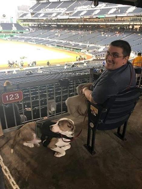 Galembush at a baseball game