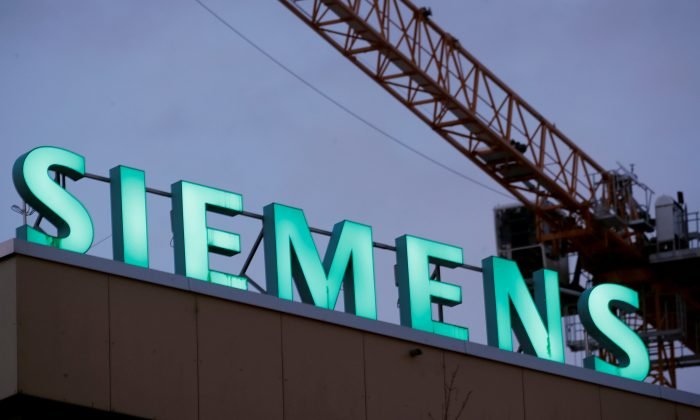 The logo of German industrial group Siemens is seen in Zurich, Switzerland, Jan. 30, 2019.   (Reuters/Arnd Wiegmann/File Photo)