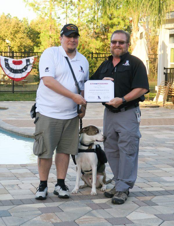 Galembush receives his certificate