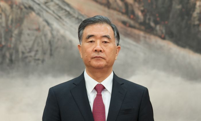 Wang Yang, chairman of National Committee of the Chinese People's Political Consultative Conference, attends the greets the media at the Great Hall of the People in Beijing on Oct. 25, 2017. (Lintao Zhang/Getty Images)