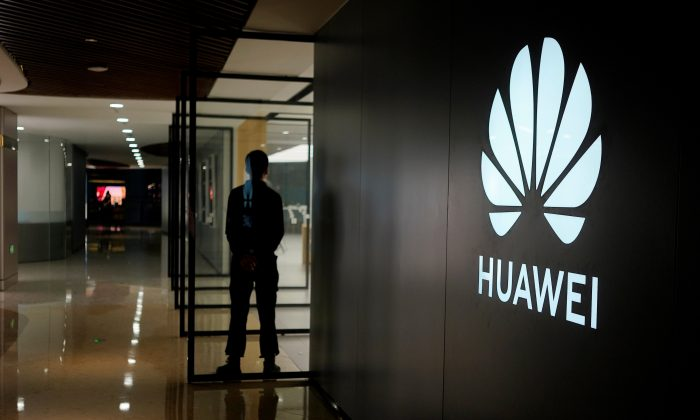 A Huawei company logo is seen at a shopping mall in Shanghai, on June 3, 2019. (Aly Song/Reuters)
