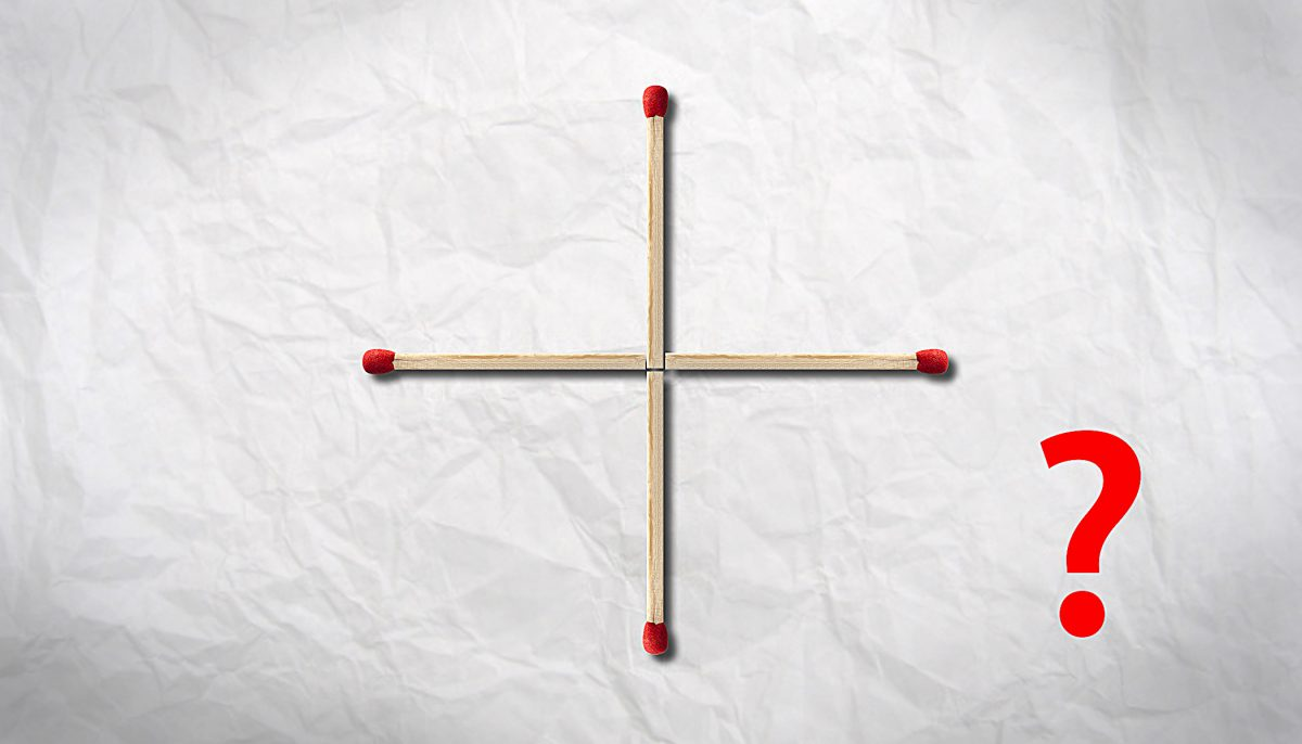 Mindbender: Can you make a square by moving ONLY 1 matchstick?