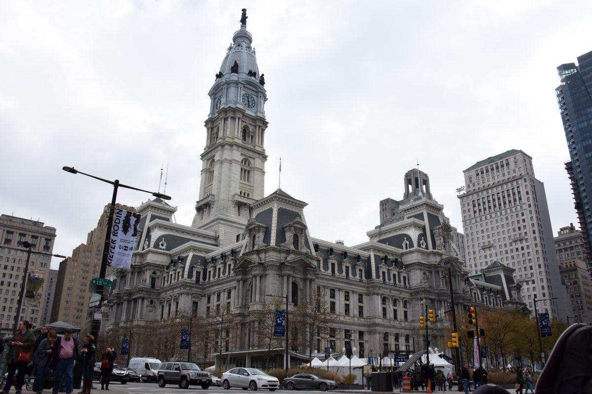 The City Hall building in Philadelphia