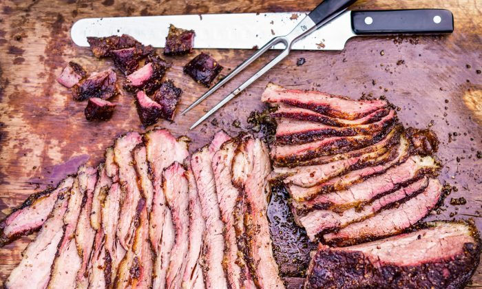A perfectly sliced brisket is a work of art. (Matthew Benson)