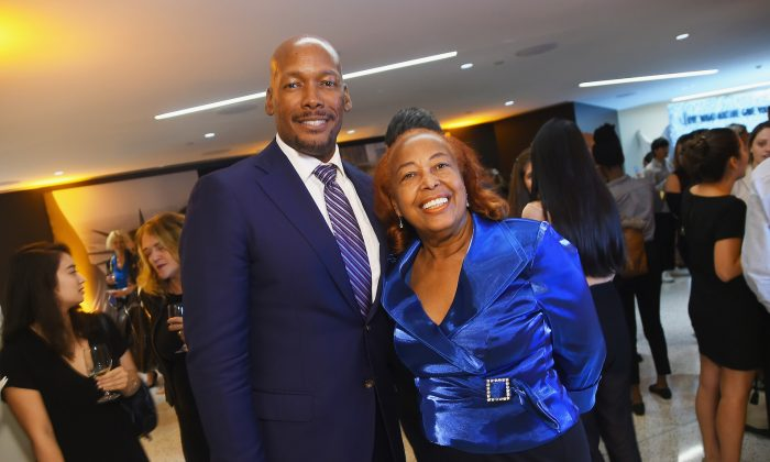 Melvin Oatis (L) and Dr. Patricia Bath (R) attend TIME Celebrates FIRSTS in New York City on Sept. 12, 2017. (Ben Gabbe/Getty Images for TIME)