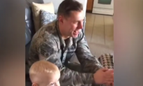 Family Surprises Active Duty Military Dad For His Birthday