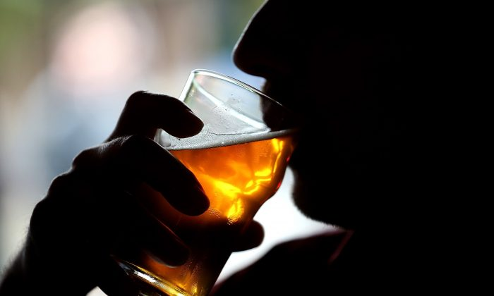 A Russian River Brewing Company customer takes a sip of the newly released Pliny the Younger triple IPA beer in Santa Rosa, Calif., on Feb. 7, 2014. (Justin Sullivan/Getty Images)