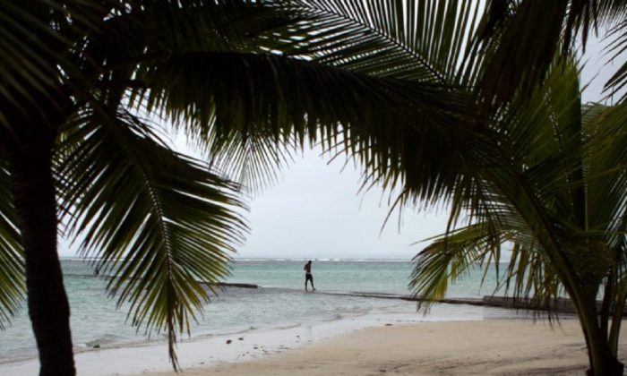 A man is seen on a beach in the Dominican Republic in a file photo. (Erika Santelices/AFP/Getty Images)