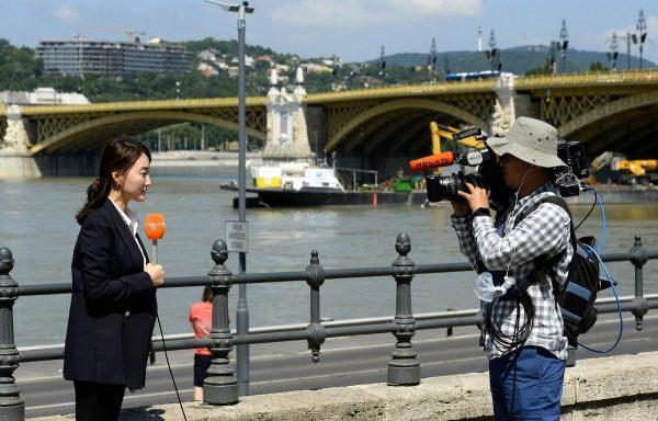 Korean TV crew