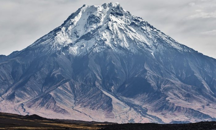 An earthquake erupted in February under the Bolshaya Udina volcano in Russia. (CNN)