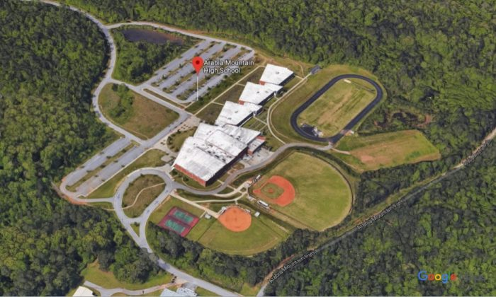 A 17-year-old cheerleading squad captain collapsed and died during a workout at Arabia Mountain High School in Lithonia, Ga., on June 10, 2019. (Google Maps)