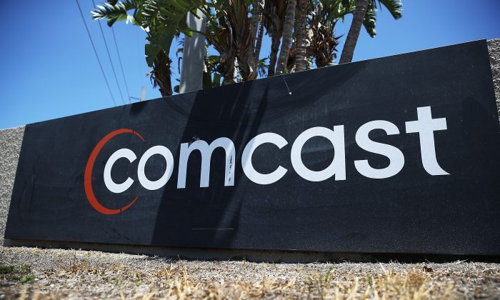A Comcast sign in Miami, Fla., on April 25, 2018. (Joe Raedle/Getty Images)