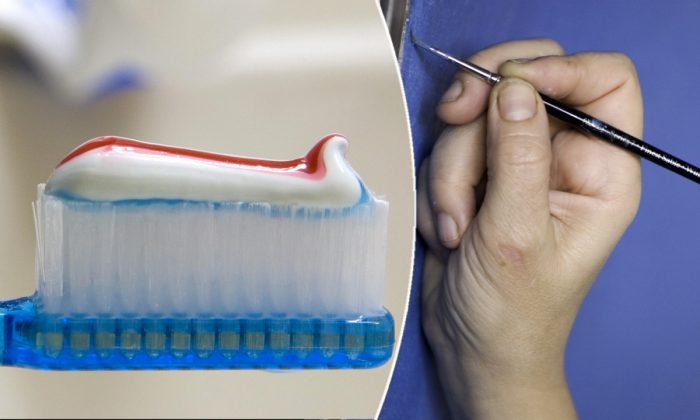 (L) A toothbrush. (Saul Loeb/AFP/Getty Images) | (R) A paintbrush. (Loic Venance/AFP/Getty Images)