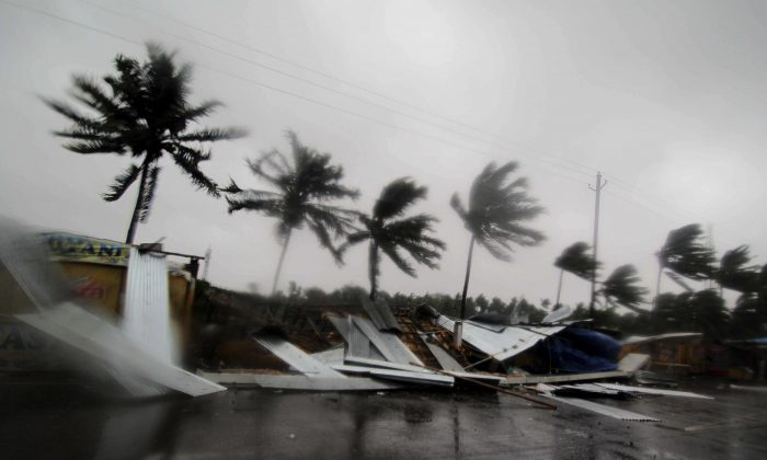 A month after powerful Tropical Cyclone Fani slammed into India's northeastern coastline, the country faces the threat of another strong storm, this time on its west coast. (Photo via AP)