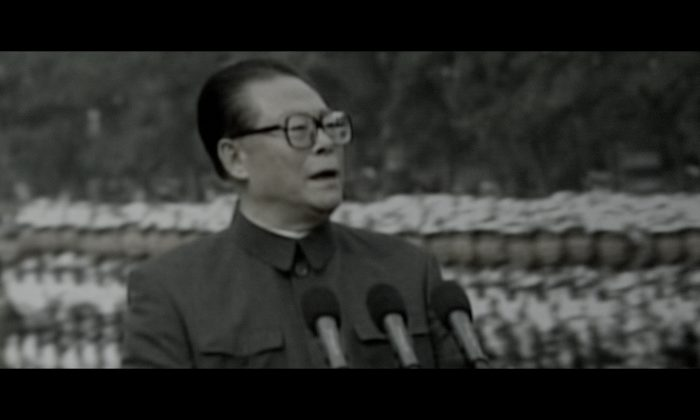 Jiang Zemin became CCP general secretary in the aftermath of the 1989 Tiananmen Massacre, and began an era of unbridled regime corruption. (Screenshot/NTD Television)
