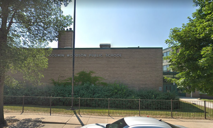 Carter G. Woodson Elementary School in Chicago's Bronzeville neighborhood in Illinois. (Screenshot/Google Maps)