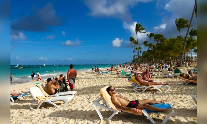 Tourists at a beach in Punta Cana, Dominican Republic in a file photo. (Erika Santelices/AFP/Getty Images)