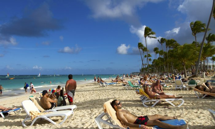 Tourists at a beach in Punta Cana, Dominican Republic, in a file photo. (Erika Santelices/AFP/Getty Images)