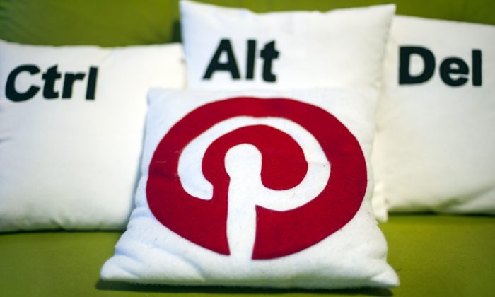 Decorative pillows set the scene at a Pinterest media event at the company's corporate headquarters office in San Francisco on April 24, 2014. (Josh Edelson/AFP/Getty Images)