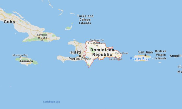 The location of the Dominican Republic. (Screenshot/Google Maps)