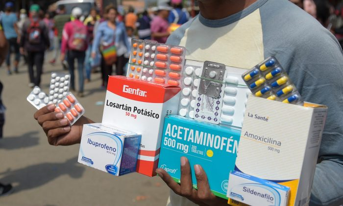 A man selling medicine on the street. (Raul Arboleda/AFP/Getty Images)