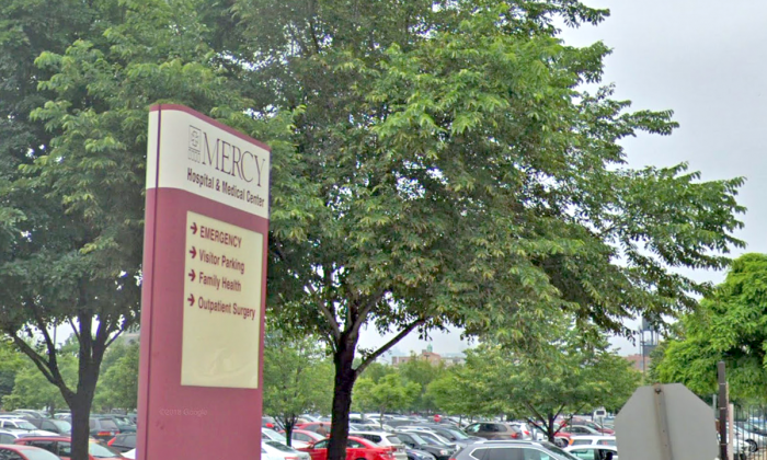 Street view of sign at Chicago's Mercy Hospital and Medical Center. (Screenshot/Google Maps)