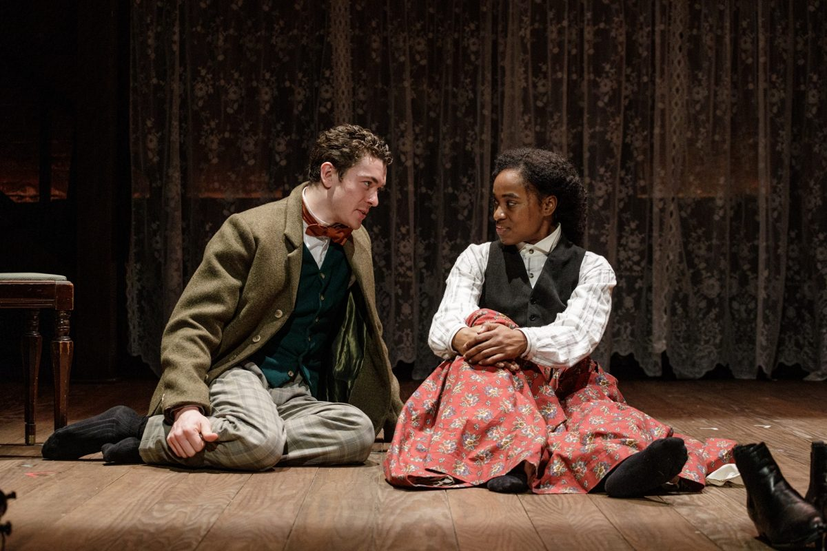 Nate Mann and Kristolyn Lloyd in Primary Stages' production of LITTLE WOMEN