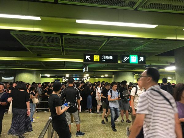 Protesters at Wan Chai Station HK