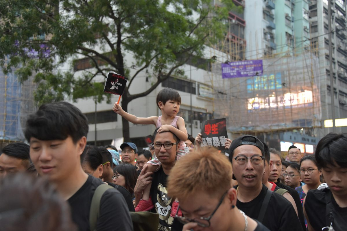 hong kong protest family