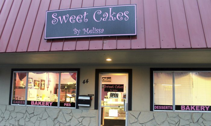 Photo of the exterior of Sweet Cakes by Melissa in Gresham, Oregon on Feb. 5, 2013. (Everton Bailey Jr./The Oregonian via AP)
