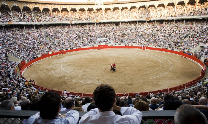 The now-closed La Monumental bull ring in Barcelona on on Sept. 25, 2011. (David Ramos/Getty Images)