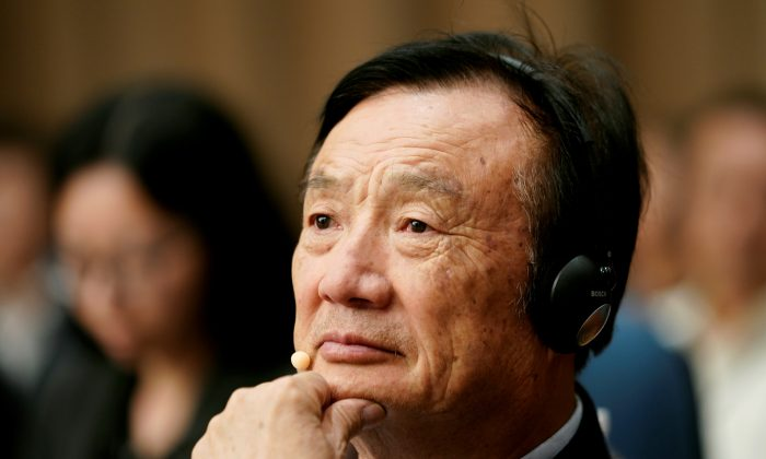 Huawei founder Ren Zhengfei attends a panel discussion at the company headquarters in Shenzhen, Guangdong Province, China June 17, 2019. (Aly Song/Reuters)
