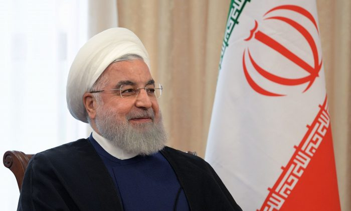 Iran's President Hassan Rouhani attends a meeting with his Russian counterpart on the sidelines of the Shanghai Cooperation Organisation (SCO) summit in Bishkek on June 14, 2019. (Alexey Druzhinin/AFP/Getty Images)