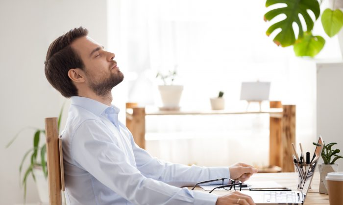 Take some deep breath during a stressful moment can provide instant relief.  (fizkes/Shutterstock)