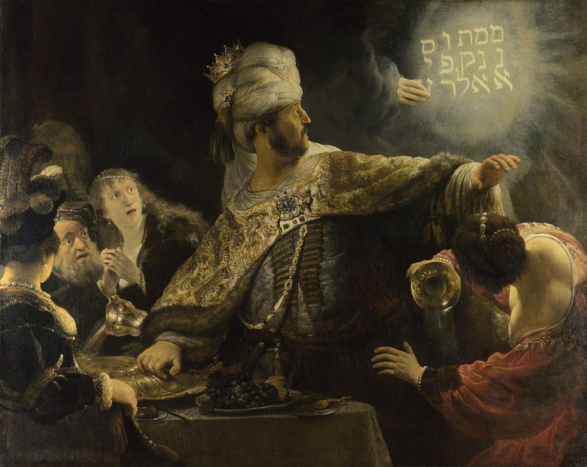 Belsazar's feast by Rembrandt