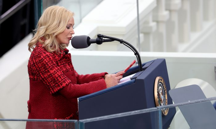 Pastor Paula White-Cain  delivers the invocation at the inauguration of Donald Trump as the 45th president at the U.S. Capitol, Jan. 20, 2017 in Washington, DC.(Joe Raedle/Getty Images)