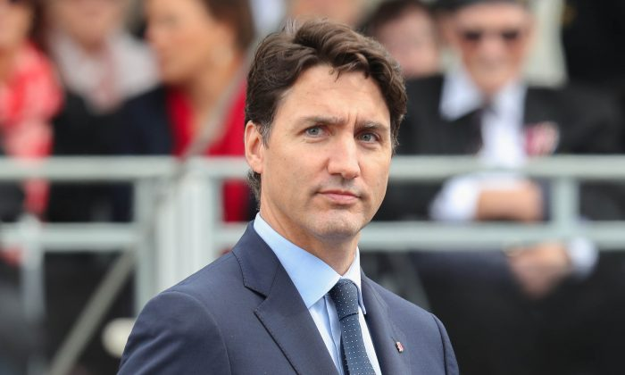Canadian Prime Minister Justin Trudeau attends the D-day 75 Commemorations in Portsmouth, England, on June 05, 2019. (Chris Jackson-WPA Pool/Getty Images)