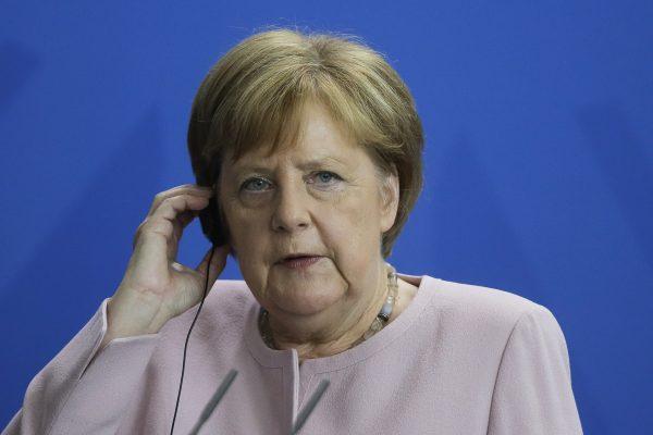 German Chancellor Angela Merkel attends a joint news conference with Ukrainian President Volodymyr Zelenskiy