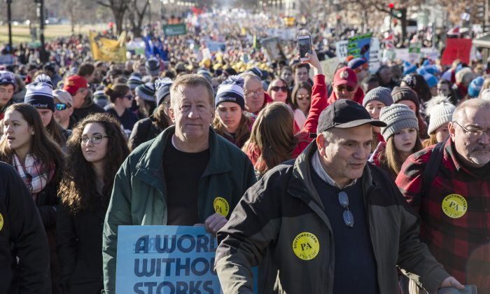 The 45th Annual March for Life rally in Washington on Jan. 19, 2018. (Samira Bouaou/The Epoch Times)