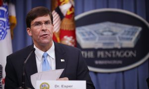 US Defense Chief Esper Cautions Europe to be Wary of China