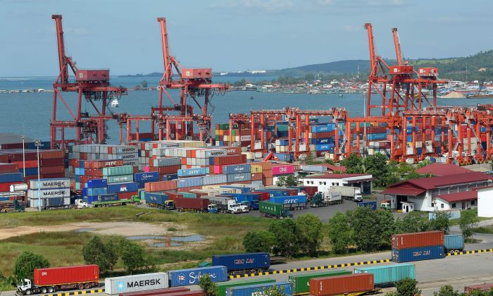 Sihanoukville port in Sihanoukville city, the coastal capital of Preah Sihanouk province on December 14, 2018. (TANG CHHIN SOTHY/AFP/Getty Images)
