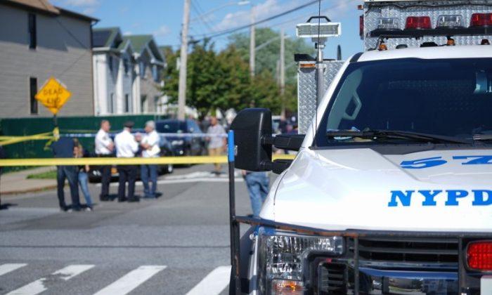 New York City Police officials in the Staten Island borough of New York on June 14, 2019. (Joseph Ostapiuk/Staten Island Advance via AP)