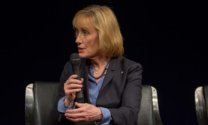 Senator Maggie Hassan at the Newsuem TIME Presents: The Opioid Diaries With James Nachtwey in Washington on March 6, 2018. (Tasos Katopodis/Getty Images for TIME)